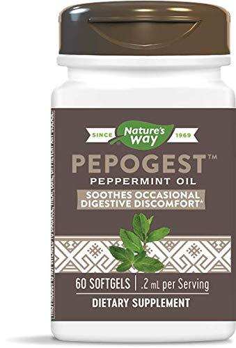 Nature's Way Pepogest Peppermint Oil 60 Softgels. Pack of 3