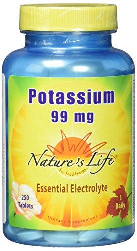Nature's Life Potassium Tablets, 99 Mg, 250 Count