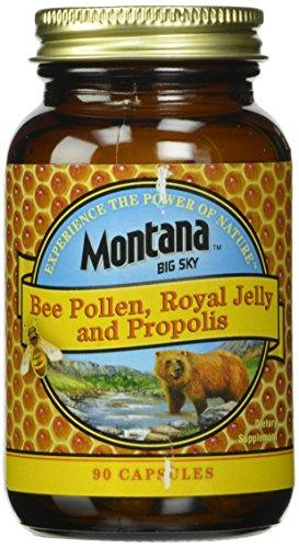 Montana Big Sky, Bee Pollen Royal Jelly and Propolis Capsules, 90 Count, [wellica]