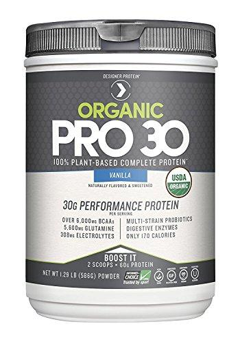 Designer Protein Pro 30 Performance Single Serve Pack Powder, Vanilla, 12 Count, Made in the USA, [wellica]
