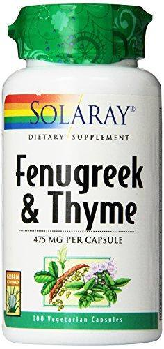 Solaray Fenugreek and Thyme Capsules, 475 mg | 100 Count
