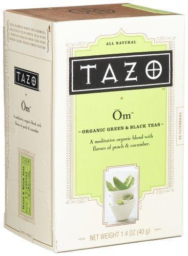 Tazo Teas, Organic, Green Tea, Peachy Green Flavored, 20 Filterbags, 1.4 oz (40 g) - 2pc