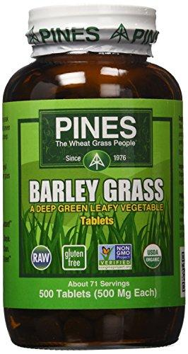 Pines Organic Barley Grass,500 mg,500 Count Tablets, [wellica]