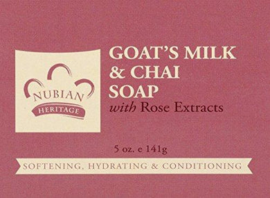 Nubian Heritage/Sundial Creations Goat's Milk and Chai Soap, 6 Count, [wellica]