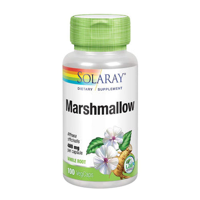 Solaray Marshmallow Root 480 mg | Healthy Respiratory Function & Digestion Support | Non-GMO & Vegan | 100 VegCaps