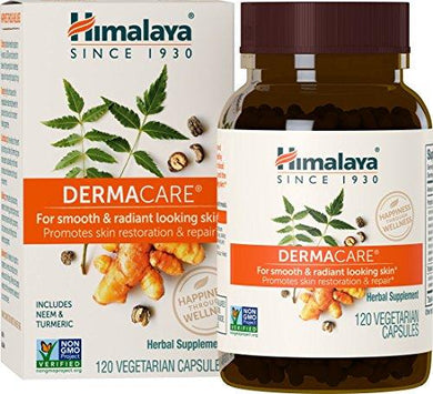 Himalaya DermaCare with Neem for Clear Skin and Mild Acne 560 mg, 120 Capsules, 1 Month Supply