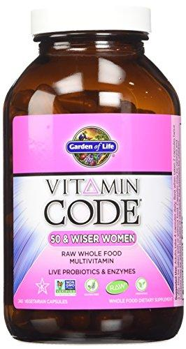 Garden of Life Vitamin Code Raw 50 and Wiser Women's Multivitamin[2 packs of 240 each]