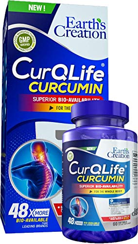 CurQLife - Water Based Organic Curcumin (Turmeric) Optimized for Joint Health by Earth's Creation USA