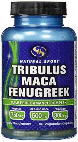 Natural Sport Tribulus/Maca/Fenugreek Supplement, 90 Count, [wellica]