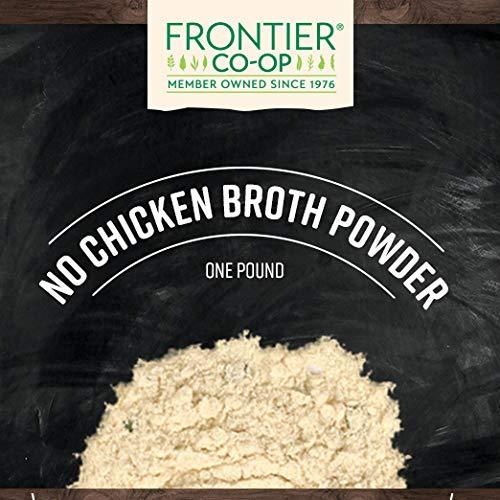 Frontier Co-op Broth Powder, No-Chicken, Kosher, Vegetarian, Non-irradiated | 1 lb. Bulk Bag, [wellica]