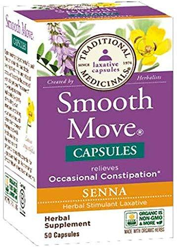 Traditional Medicinals, Smooth Move Senna, 50 Capsules