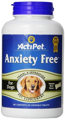 ActiPet Anxiety Free, for Travel and Separation, 90 Chewable Tablets