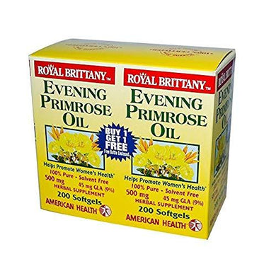 American Health Dietary Fiber Supplements, Royal Brittany Evening Primrose Oil, 400 Count