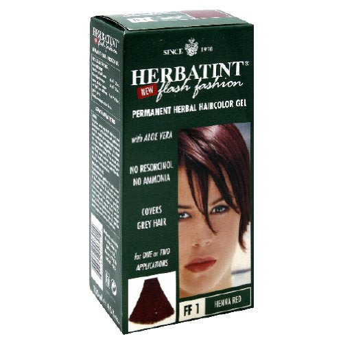 Herbatint Flash Fashion Permanent Herbal Hair Color Gel #ff1 Henna Red - 4.56 Oz