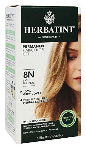 Herbatint 8N Light Blonde Permanent Herbal Hair Color Gel 4.5 fl. oz. (a)