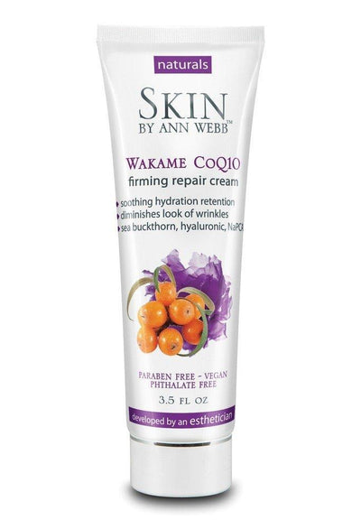 Skin by Ann Webb Wakame Coq10 Night Cream Lotion Chamomile, 3.5 Fluid Ounce