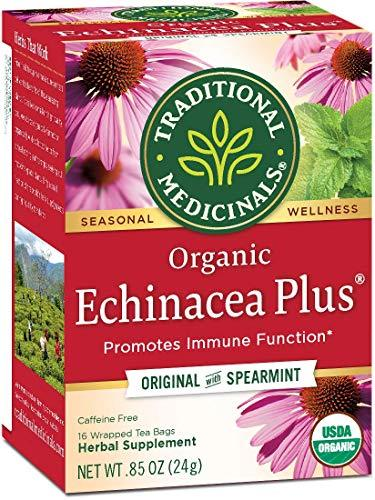 Traditional Medicinals Tea Echinacea Plus Org, 16 count (0.85 0z), [wellica]