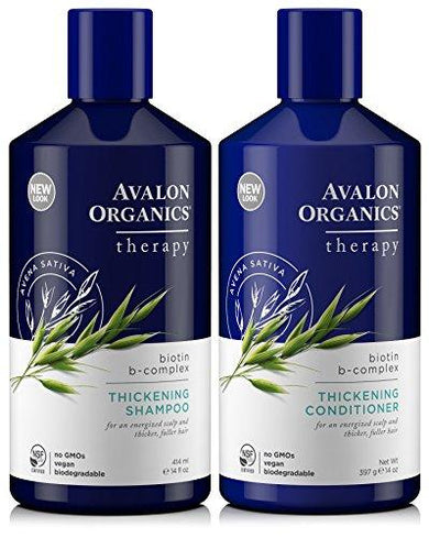 Avalon Organics Therapy Biotin B-Complex Thickening Conditioner and Shampoo