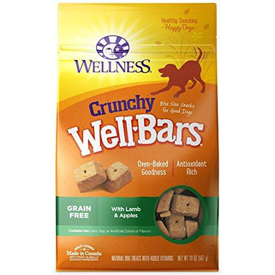 Wellness Natural Wellbars Crunchy Dog Treats, [wellica]