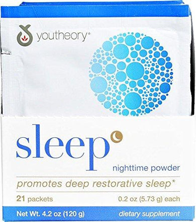 YOUTHEORY Sleep Powder Advanced Packets 21 Count, 0.02 Pound