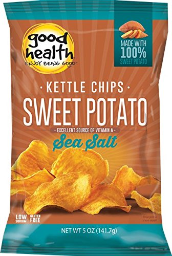Good Health Glories Kettle Sweet Potato Chips, 5-Ounce (Pack of 12), [wellica]