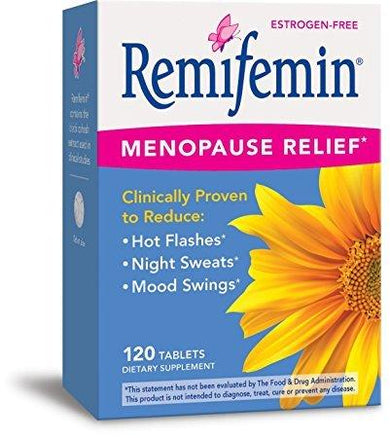 Enzymatic Therapy Remifemin Estrogen-Free Menopause Relief, 120 Tablets - Pack of 2