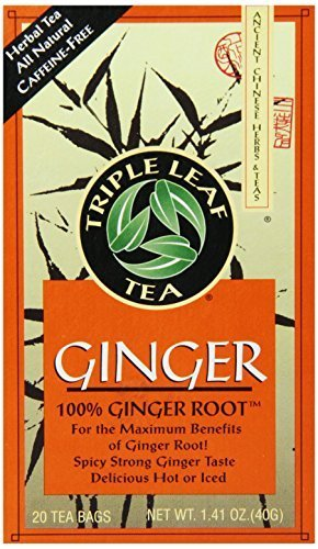 Triple Leaf Tea, Ginger, 20 Tea Bags, 1.4 oz (40 g) - 2pcs
