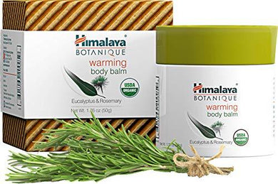 Himalaya Organic Warming Body Balm with Eucalyptus, Rosemary and Coconut Oil for Muscle and Joint Pain Relief (1 Pack)