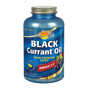 Black Currant Oil, Bone & Joint, Bone and Joint, Essential Fatty Acids, Hair-Skin-Nail Support, Health From The Sun, Nature's Life, prefe