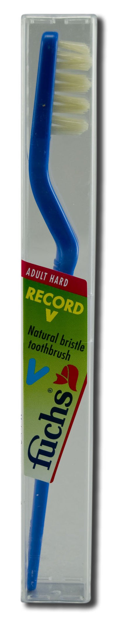 Fuchs Brushes, Natural Bristle Record V Hard Adult, 1 Count