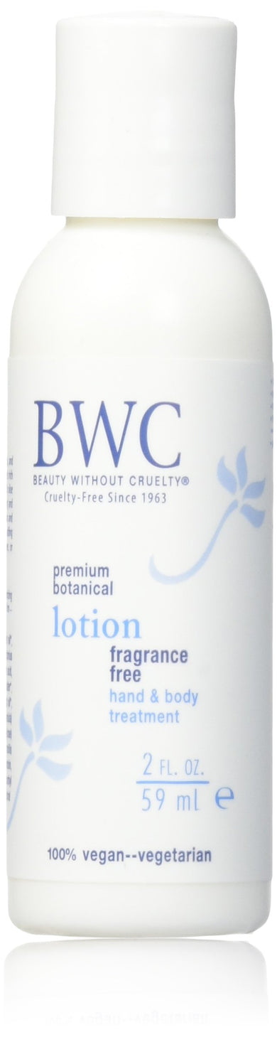 Beauty without Cruelty Fragrance Free Hand and Body Lotion, 2.0 Fluid Ounce