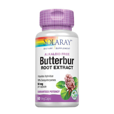 Solaray Butterbur Extract, 50 mg, 60 Count