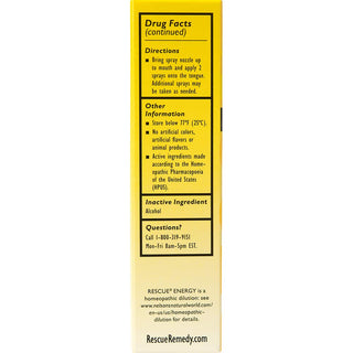 Rescue Energy Spray, 20mL - Natural Homeopathic Fatigue Relief