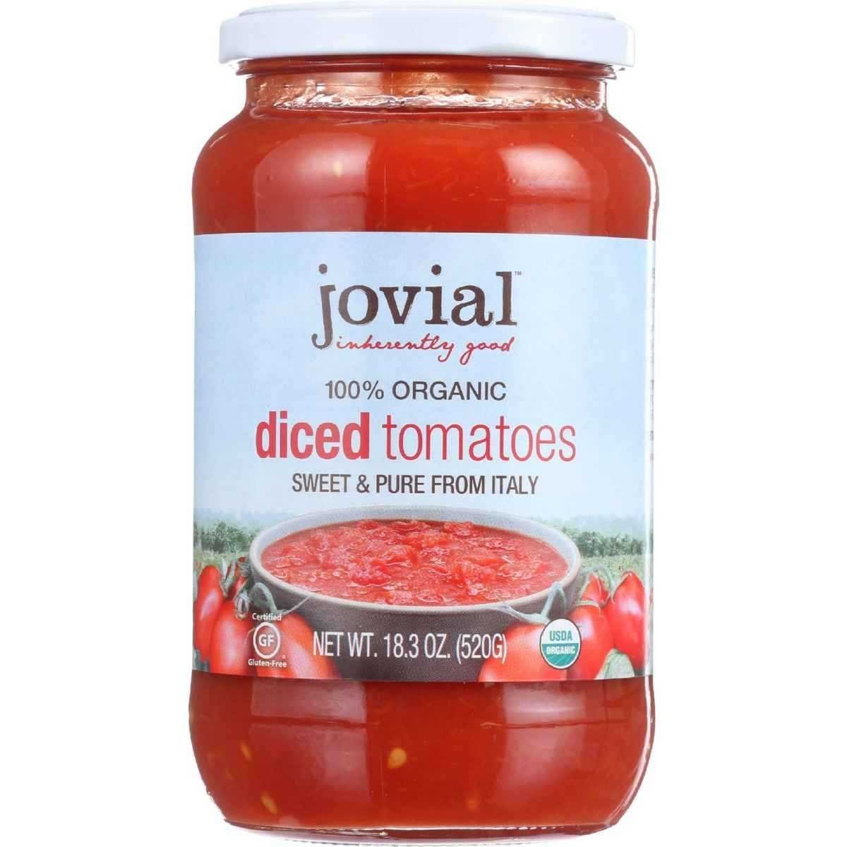 Jovial Organic Diced Tomatoes - 18.3 oz - 6 Pack
