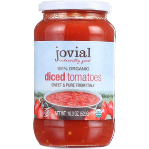 [product_id] - Canned, Diced, Grocery, Grocery & Gourmet Food, Jarred & Packaged Foods, Jovial, Pantry Staples, Tomatoes, Vegetables - Wellica