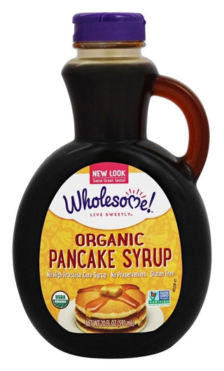 Wholesome Sweeteners Pancake Syrup - Original - 20 OZ, [wellica]