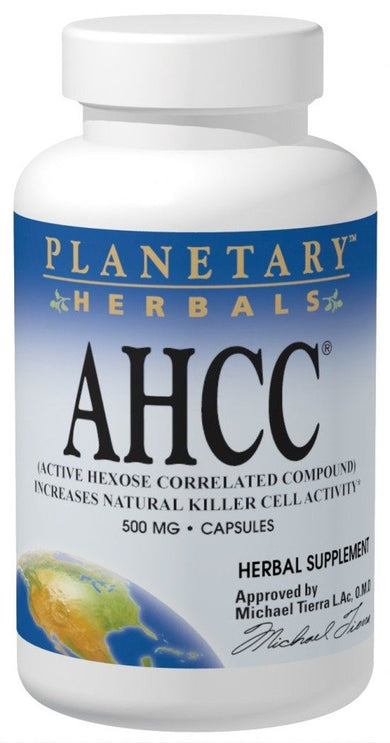 AHCC 500 mg Planetary Herbals 60 Caps