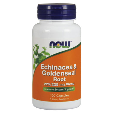NOW Supplements, Echinacea & Goldenseal Root, 225/225 mg Blend, Immune System Support*, 100 Capsules