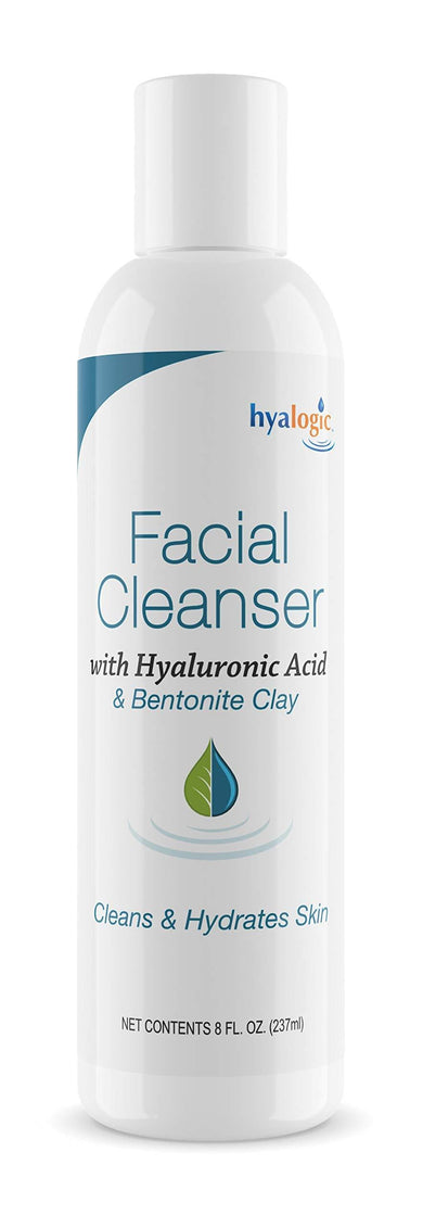 HA Face Wash, Hyaluronic Acid Facial Cleanser - Moisturizing, Paraben-Free Daily Face Scrub with Bentonite Clay - Get Youthful, Glowing Skin Naturally! (8 oz.) by Hyalogic
