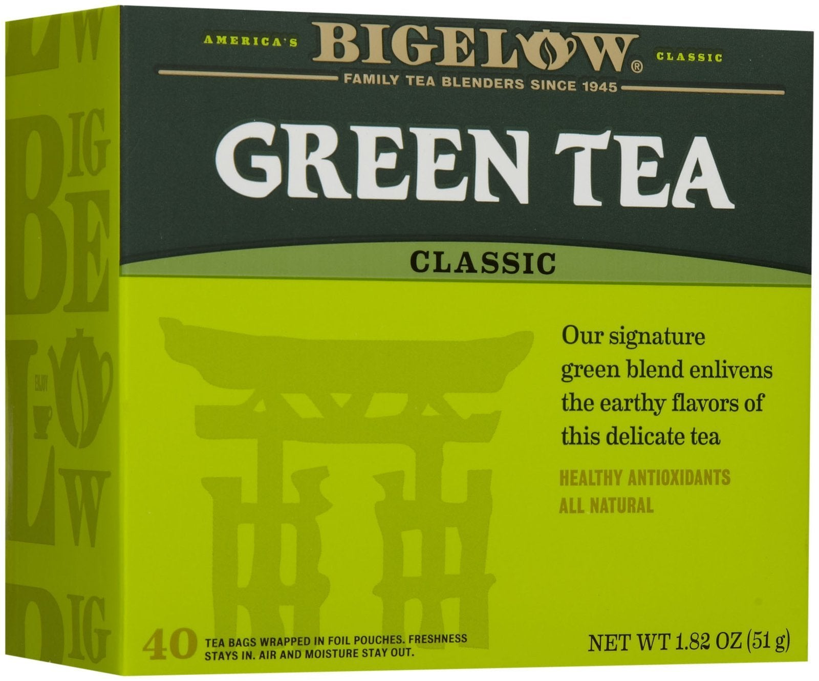 Bigelow, Tea Green, 40 Count