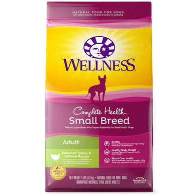 Wellness Complete Health Natural Dry Small Breed Dog Food Small Breed Turkey & Oatmeal, [wellica]
