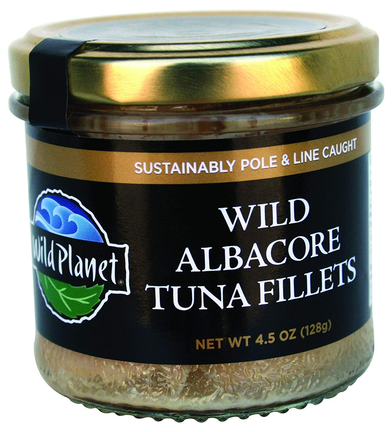 Wild Planet Albacore Wild Tuna Fillets, Keto and Paleo, 3rd Party Mercury Tested, 4.5 Ounce (Pack of 12)