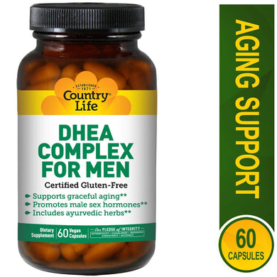 Country Life One A Day Multivitamins for Men, 60 Vegan Capsules (Supports Prostate Health, High Energy Levels & Healthy Skin) Non-GMO, Gluten Free DHEA Complex Supplement