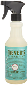 Mrs. Meyer's Clean Day Multi-Surface Everyday Cleaner, Basil Scent, 16 ounce bottle, [wellica]