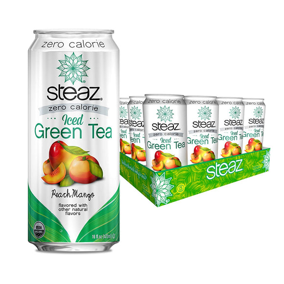 [product_id] - Beverages, Coffee, Green/Peach, Grocery, Grocery & Gourmet Food, Iced Tea, Steaz, Tea, Tea & Cocoa - Wellica