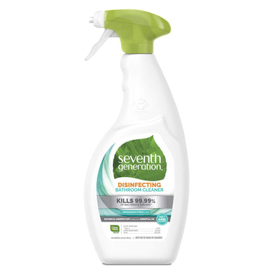 Seventh Generation Disinfecting Bathroom Cleaner, Lemongrass Citrus Scent, 26 oz (Packaging May Vary), [wellica]