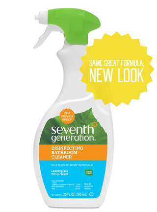 Seventh Generation Disinfecting Bathroom Cleaner, Lemongrass Citrus 26 fl oz (786 ml), [wellica]