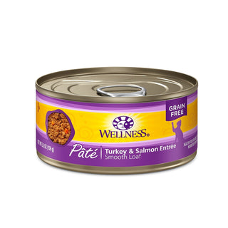 Wellness Canned Cat Food Turkey and Salmon Formula 5.5 oz (Pack of 6), [wellica]