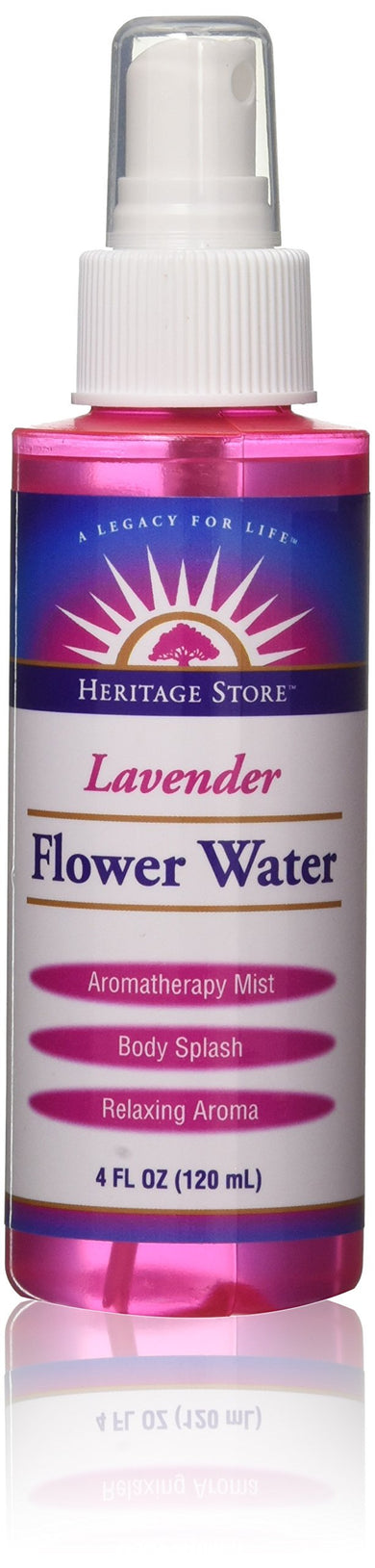 Heritage Products Lavender Flower Water, 4-Ounce