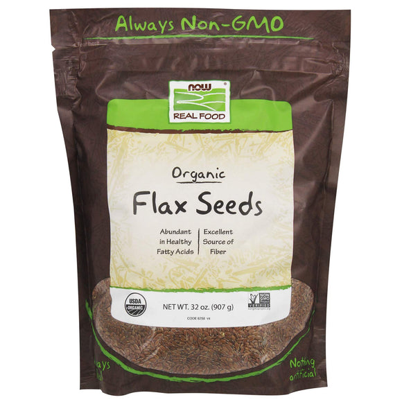 Us/NOWAQ, Flax Seed, Grocery & Gourmet Food, Herbs, Now Foods, Pantry Staples, preferred brand, Single Herbs & Spices, Spices & Seasonings - Wellica